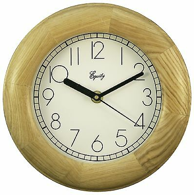 "24400 Equity by La Crosse 8"" Natural Wood Analog Wall Clock"