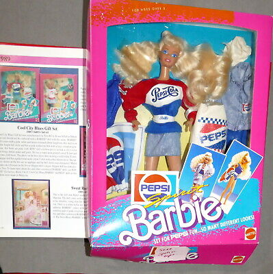 Barbie 1980s As Seen in Book Page 152 GIFT SET PEPSI Barbie Toys r Us USA SELLER