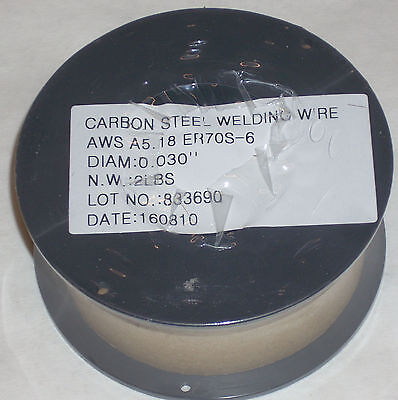 2 Rolls Of Er70s-6 Mild Steel Mig Welding Wire 2lb Each .030 Diameter