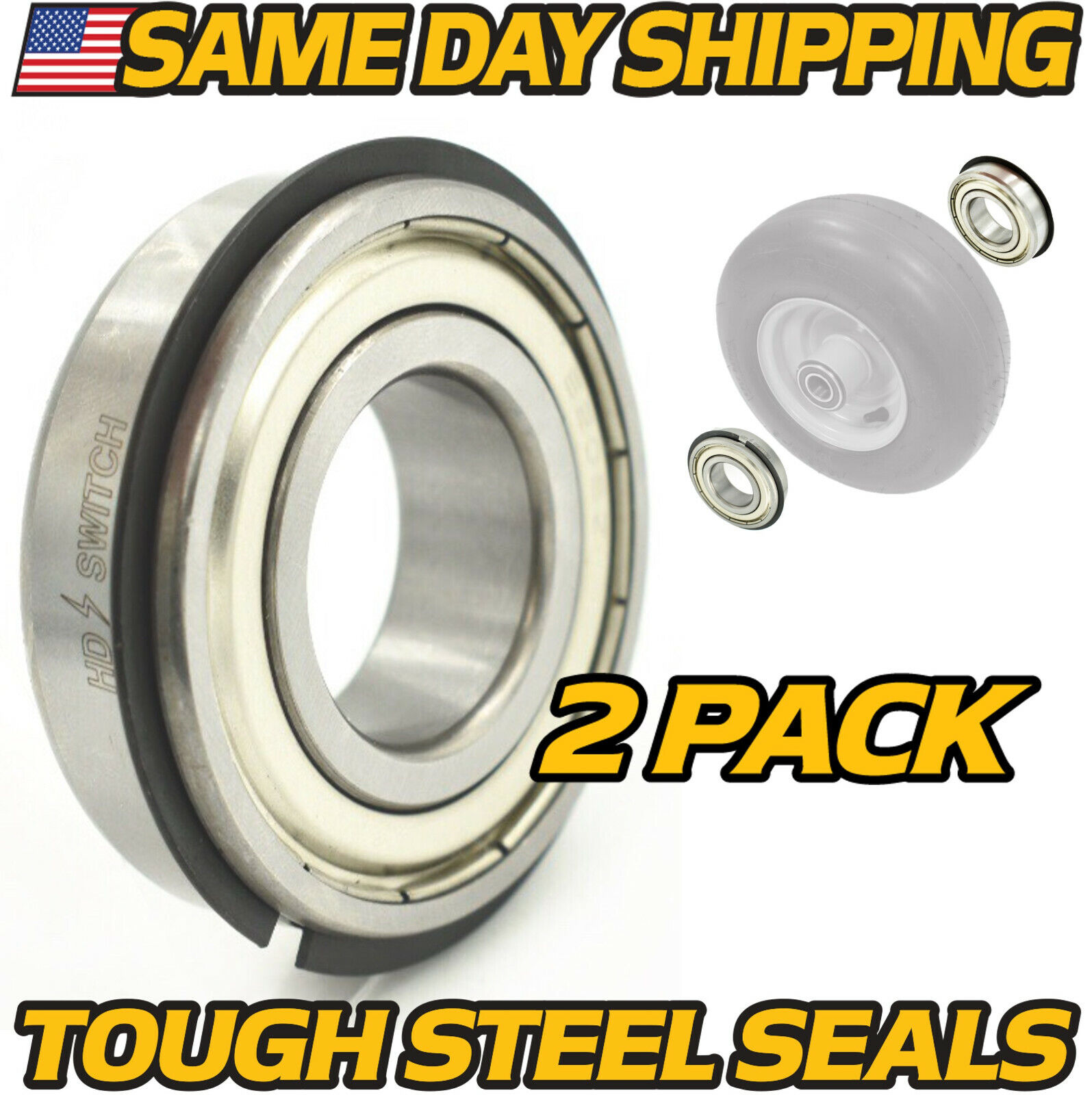 "Front Wheel Bearings, Ariens Gravely 05435700 - 0.98"" x 2.0"