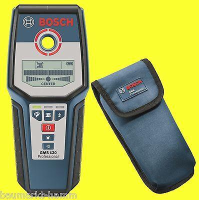 BOSCH GMS 120 Ortungsgerät  Metalldetektor Leitungssucher 100