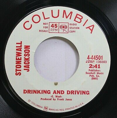 Country Promo 45 Stonewall Jackson - Drinking And Driving / I Believe In Love On ()