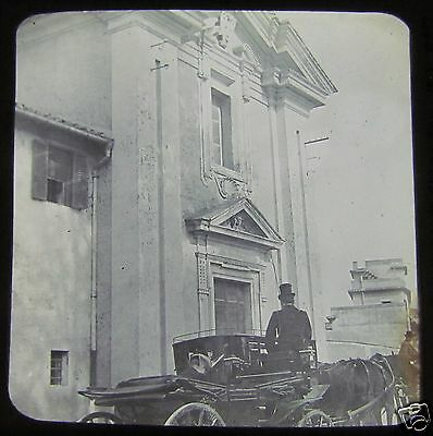 Glass Magic lantern slide CHURCH OF QUE VADIS APPIAN WAY DATED 1913 ITALY ROME