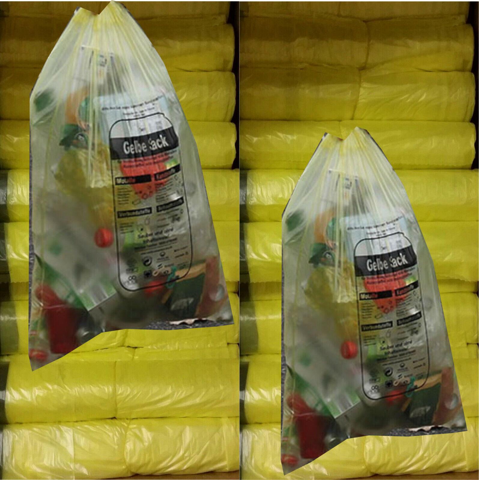 Gelbe Säcke Gelber Sack Müllbeutel 1 Müllsack mit Zugband bis 50 Rollen Neu