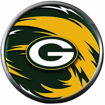 NFL Green Bay Packers Swirl Logo Football Fan Team Spirit 18MM - 20MM Fashion Sn (Green Swirl Logo)
