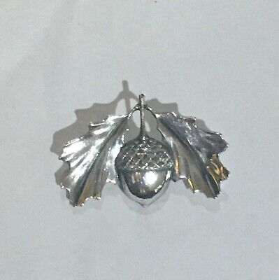 Retired James Avery Acorn Leaf Pin Charm Sterling Silver