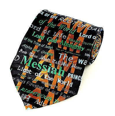 I Am The Christ Men's Neck Tie Religious  Christian Jesus Easter Black Necktie - Easter Christian