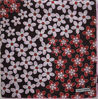 $165 NWOT Authentic TOM FORD 100% SILK Pocket Square Pochette Handkerchief