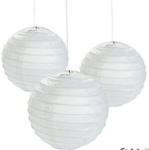12 small white paper chinese lanterns centerpieces wedding