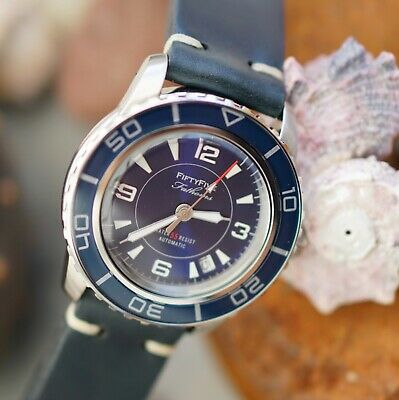 "Müller&Son Watch ""Blue Mod 2"" made from Seiko SNZH53 Fifty Five Fathoms + Strap"