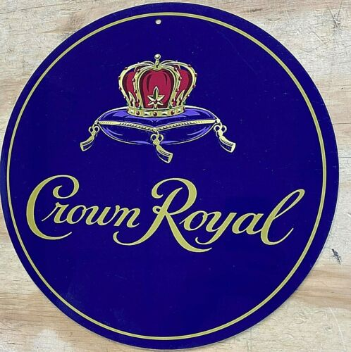 Crown Royal Logo Aluminum Tin Sign 12""
