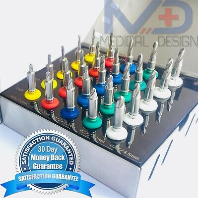 25pcs Set Dental Implant Conical Drills Kit Guided Surgery With Stoppers High Ce