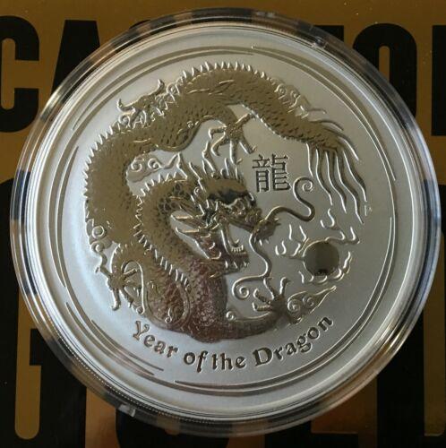 2012 10 oz Silver Australian Lunar Year Of The Dragon