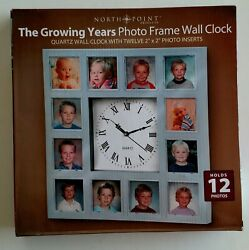 NEW-North Point-The Growing Years Photo Frame Wall Clock