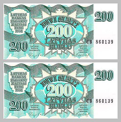 Lettland / Latvia 200 Rublu 1992 p41 unz.