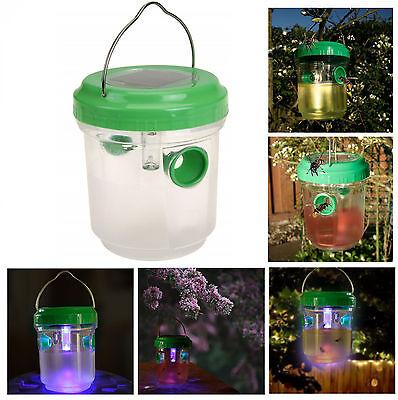 LED Solar Insektenfalle Wespenfalle Insektenkiller Mückenschutz Lampe Leuchte