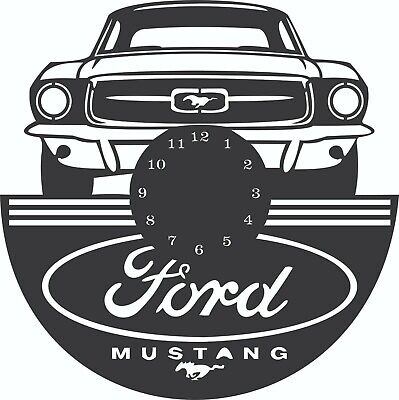 Cnc Vector Dxf Plasma Router Laser Cut Dxf-cdr Vector Files - Ford Mustang Clock