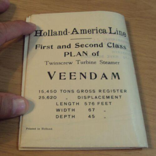 RARE 1928 HOLLAND-AMERICA Line