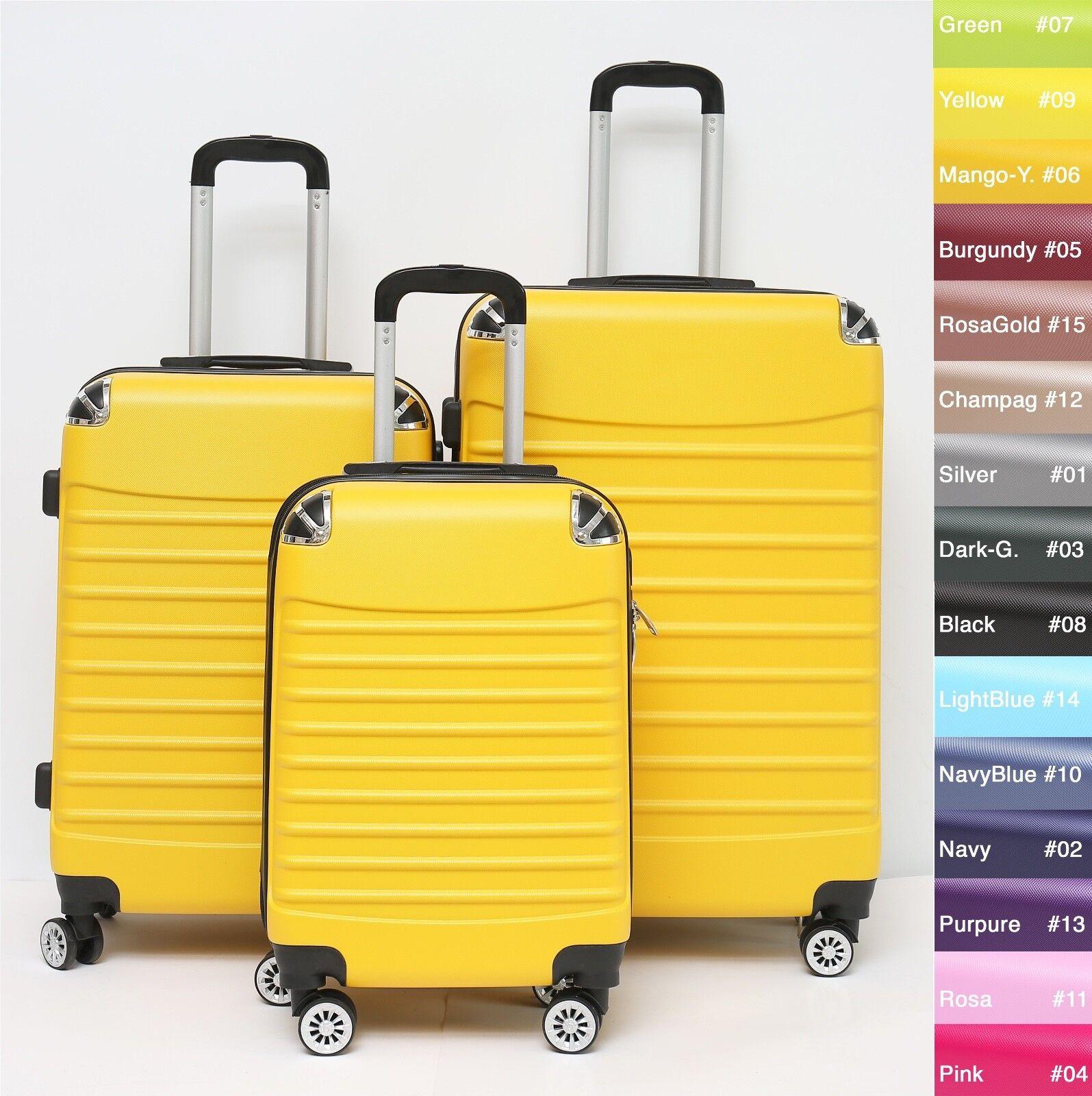 Reisekoffer Dehnungsfuge Koffer Trolley Hartschalenkoffer B-102 4-Rollen M L XL
