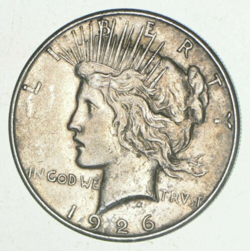 Early - 1926-D - Peace Silver Dollar - 90% US Coin DENVER Mint - VG-XF Condition