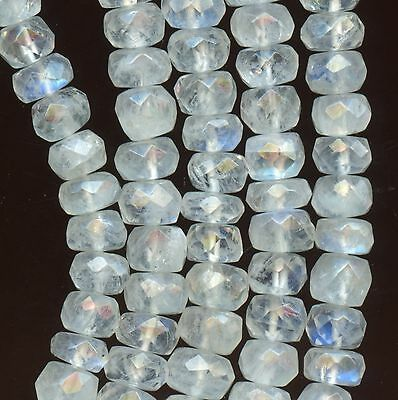 RAINBOW MOONSTONE Graduated 4-6mm Faceted Roundels 16