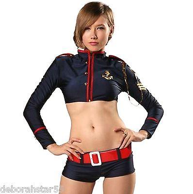 Sexy Sailors Sailor Girl Costume Shorts Top 8 10 12 14 Pole Pap Dance