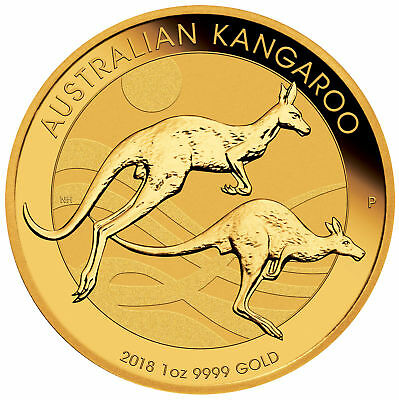 2018 $100 1oz Gold Australian Kangaroo .9999 BU