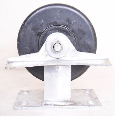 2 Count Albion Fixed Plate 6 X 2 12 Caster Wheel With Brake 022191