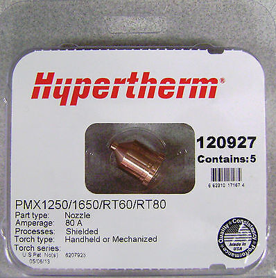 Hypertherm Genuine Powermax 12501650 Nozzles 120927