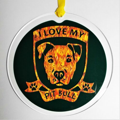 Pit Bull, Dog Window Ornament, Wall Decoration, Dog Lover Gift, Dog Breed Gift
