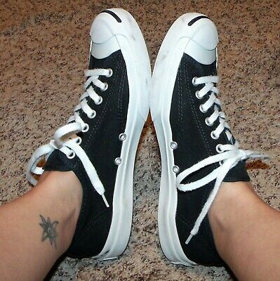 CONVERSE Jack Purcell CP Ox classic retro black white sneaker shoe #1Q699 9 10.5