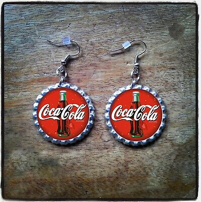 Coca-Cola Bottle Cap Earrings, Necklace & Key Ring