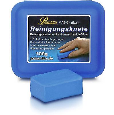 Petzoldt's Profi-Reinigungsknete, Blau, 100 Gramm; Lackreinigung; MAGIC-Clean