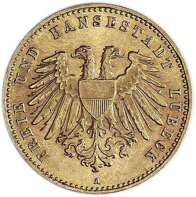 J.227 Lübeck 10 Gold Mark 1904 Stgl. Stadtwappen der Freien und Hansestadt