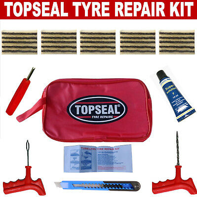 Tubeless Tyre Puncture Repair Kit With 25 Strings And Pang Cement