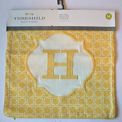 Threshold Monogram Pillow Cover