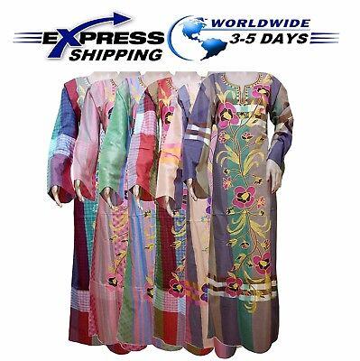 Egyptian Attire (Islamic Egyptian Cotton Arabic Abaya Galabeya Jilbab Dress Muslim Galabya)