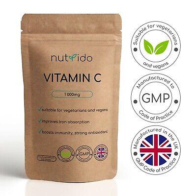Vitamin C 1000mg Ascorbic Acid Immune Health Antioxidant High Strength   Tablets