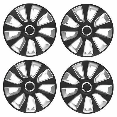 UKB4C 4x Wheel Trims Hub Caps 15 Covers fits Renault Espace Laguna Scenic Modus in Silver