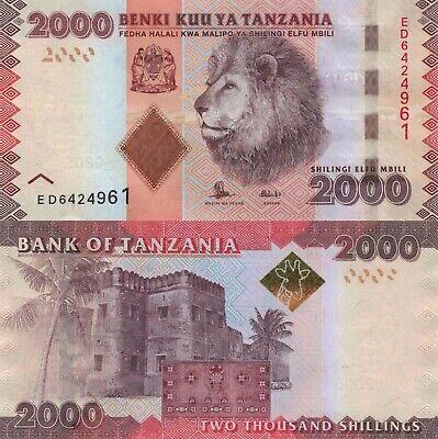 Tanzania 2000 Shillings (2010/2015) - Lion/Arab Fort/p42b UNC