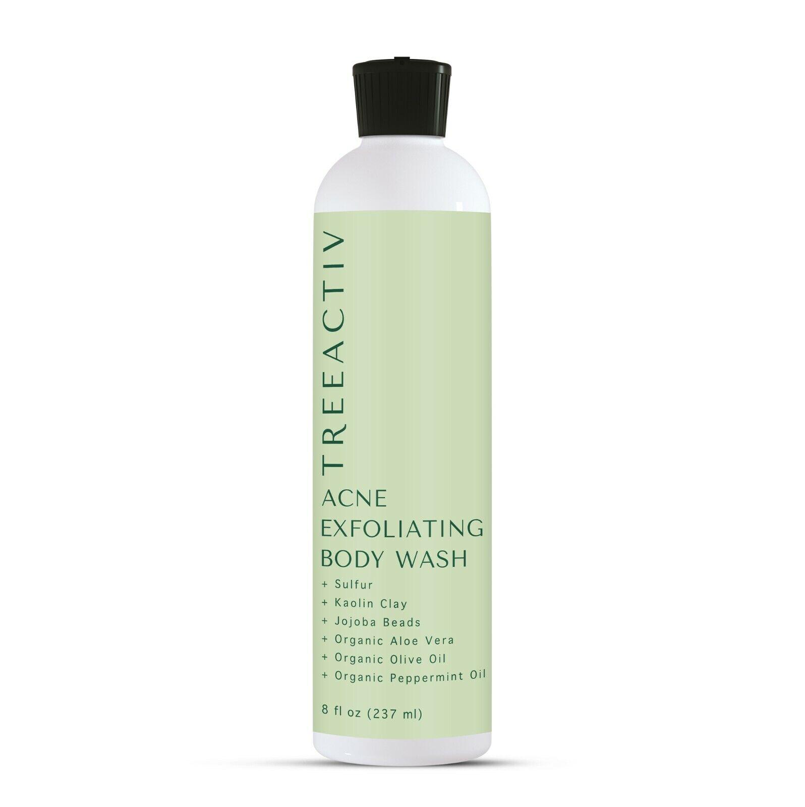 TreeActiv Acne Exfoliating Body Wash | Natural Treatment for