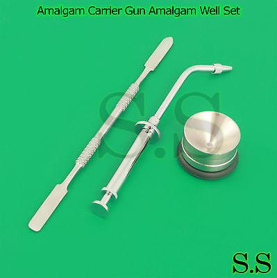 Amalgam Carrier Gun Amalgam Well Pot Cement Mixing Spatula Dental Lab Tools New