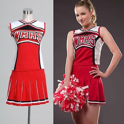 Glee Santana Lopez Cheering Squad Dress Halloween Party Show Event Red Dress - Glee Halloween