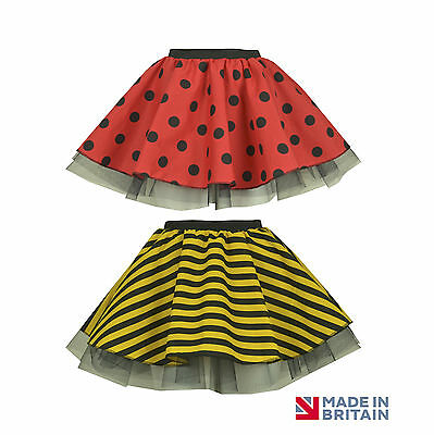 Girls WORLD BOOK DAY BUMBLE BEE / LADYBIRD TUTU SKIRT FANCY DRESS COSTUME WINGS - Costume Book