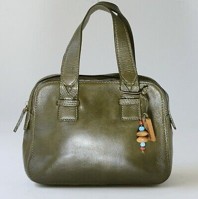 Hidesign DEEP OLIVE GREEN , SOFT  LEATHER  TOTE / GRAB BAG Small / Medium Size
