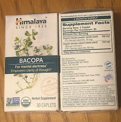 Himalaya Organic Bacopa Monnieri Extract 250 Mg, 30 Capsules Exp. Jan 2022. !!!!
