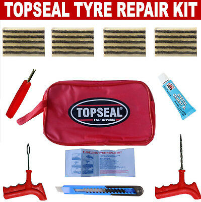 Tubeless Tyre Puncture Repair Kit With 20 Strings And Rema Tip Top Blue Cement