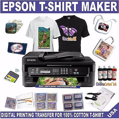EPSON PRINTER T-SHIRT MAKER PRINT COTTON  COTTON BULK INK COMPLETE START PACK
