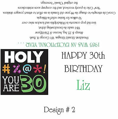 1985/30th Birthday Party Favors/Candy Wrappers Design # - 30th Birthday Party Favors