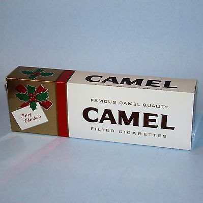 2 Vintage Camel Filter Christmas Cigarette Carton Sleeves VG+ (EMPTY)